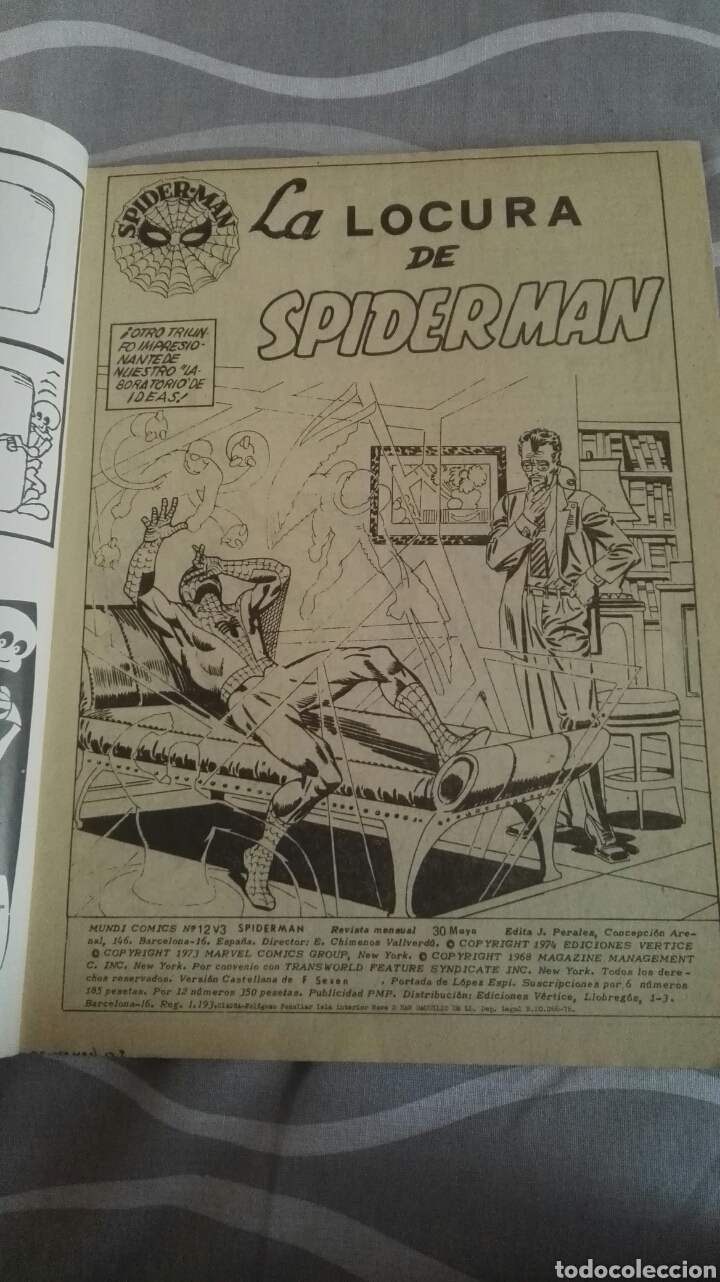 Cómics: Comic Spiderman, V.3-N°12, El Duendecillo Verde Y Los Gansters, Ed. Vertice, 1973 - Foto 3 - 110714800
