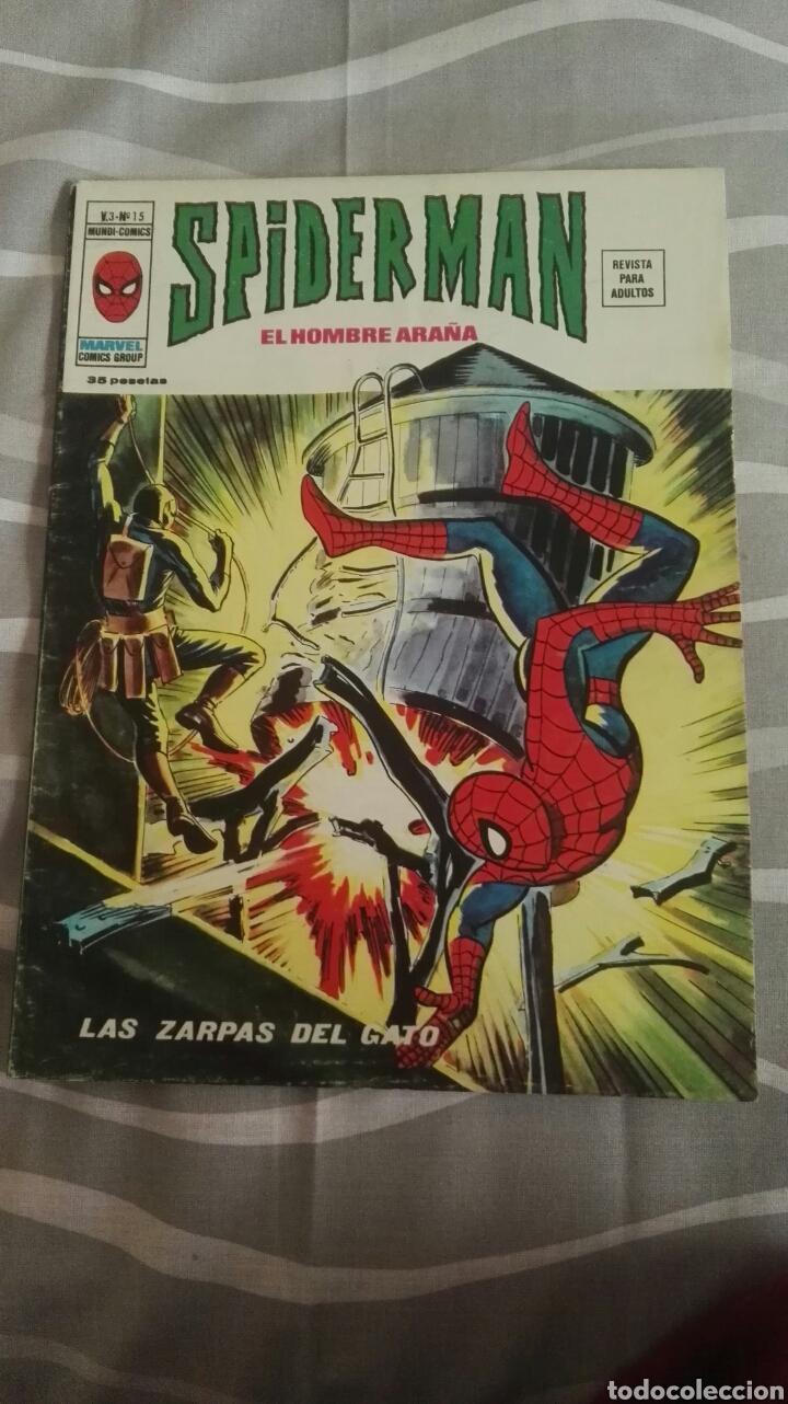 CÓMICS SPIDERMAN, V.3 N°15, LAS ZARPAS DEL GATO, ED. VERTICE, 1974 (Tebeos y Comics - Vértice - V.3)