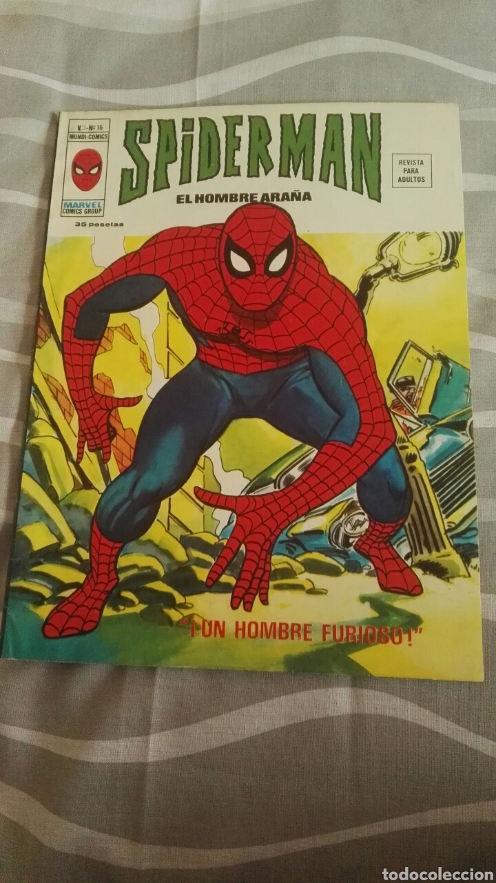 CÓMICS SPIDERMAN, V.3 N°16, ¡UN HOMBRE FURIOSO!, ED. VERTICE, 1974 (Tebeos y Comics - Vértice - V.3)