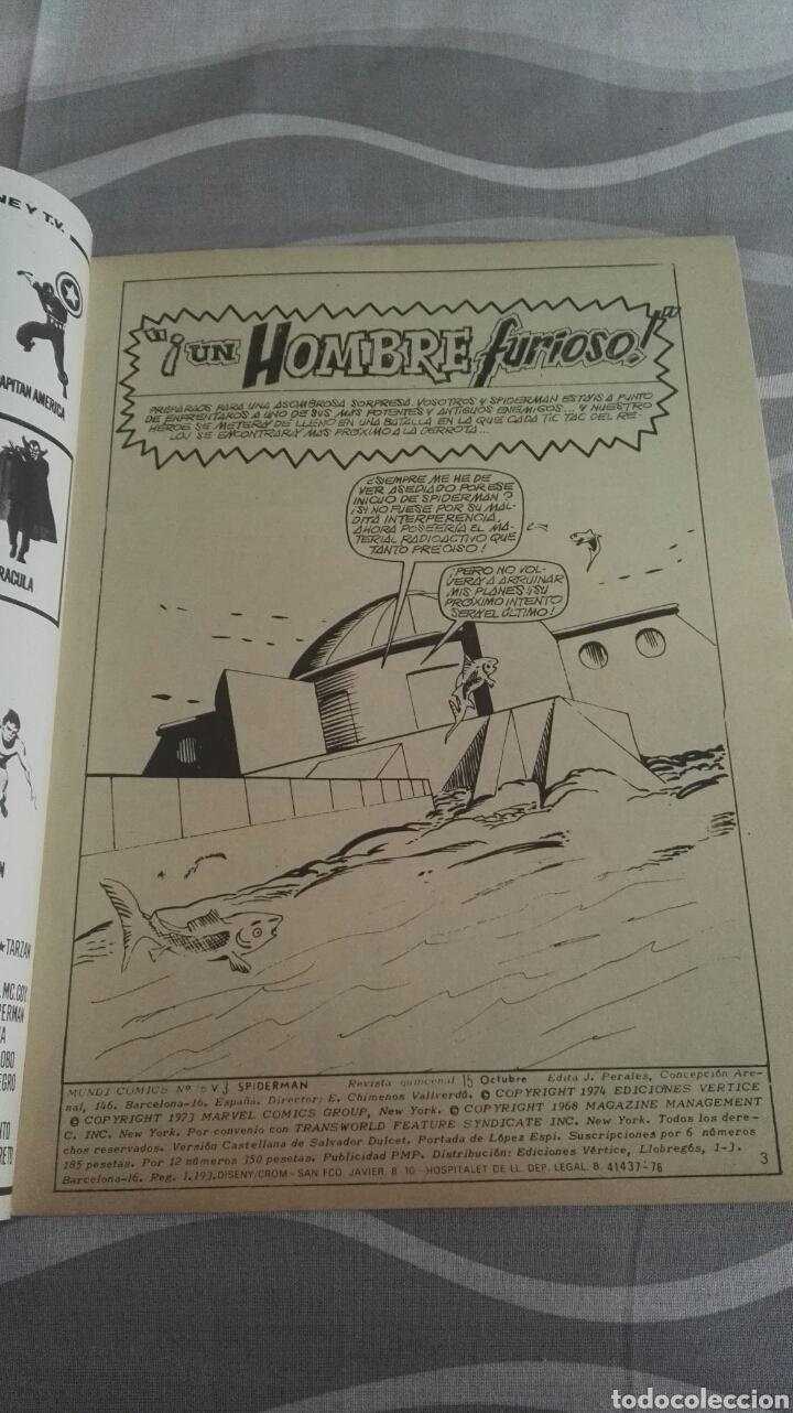 Cómics: Cómics Spiderman, V.3 N°16, ¡Un Hombre Furioso!, Ed. Vertice, 1974 - Foto 3 - 110871274