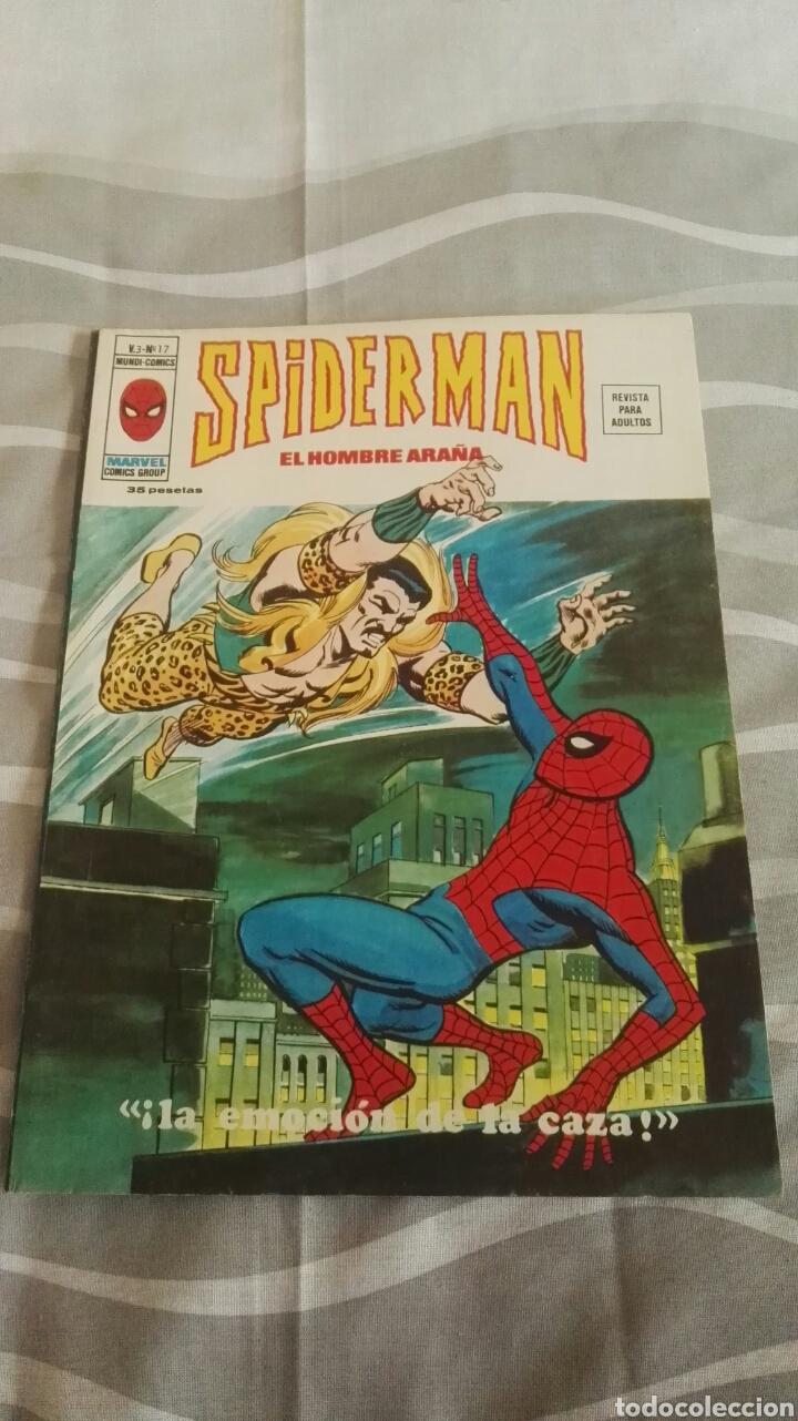 CÓMICS SPIDERMAN, V.3 N°17, ¡LA EMOCIÓN DE LA CAZA!, ED. VERTICE, 1974 (Tebeos y Comics - Vértice - V.3)