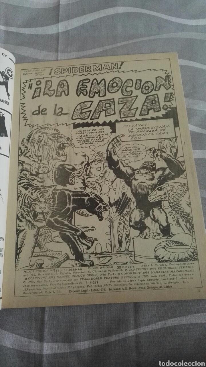 Cómics: Cómics Spiderman, V.3 N°17, ¡La Emoción De La Caza!, Ed. Vertice, 1974 - Foto 3 - 110871919