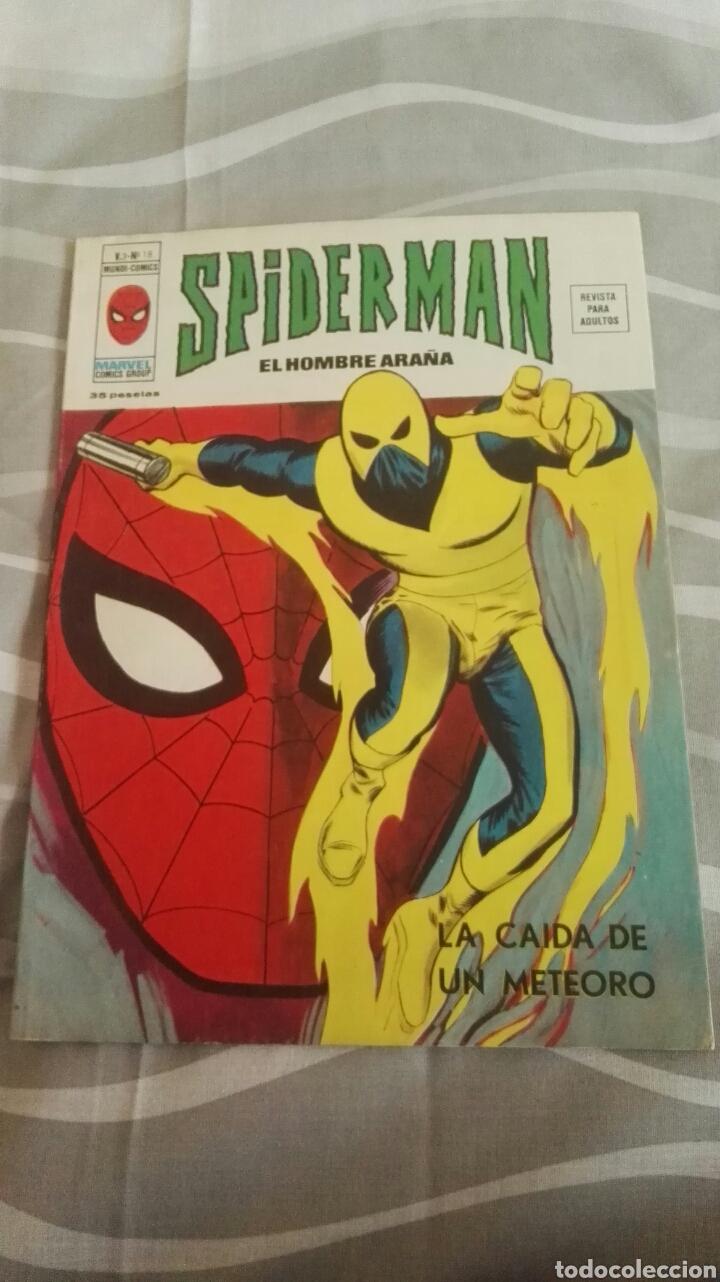 CÓMICS SPIDERMAN, V.3 N°18, LA CAÍDA DE UN METEORO, ED. VERTICE, 1974 (Tebeos y Comics - Vértice - V.3)