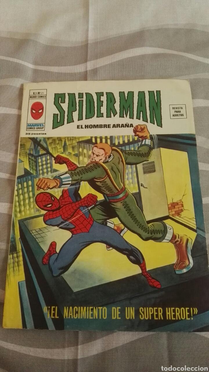 CÓMICS SPIDERMAN, V.3 N°21, ¡EL NACIMIENTO DE UN SUPER HÉROE!, ED. VERTICE, 1974 (Tebeos y Comics - Vértice - V.3)