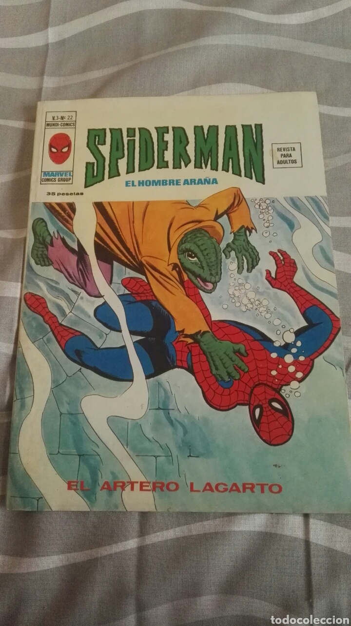 CÓMICS SPIDERMAN, V.3 N°22, EL ARTERO LAGARTO, ED. VERTICE, 1974 (Tebeos y Comics - Vértice - V.3)