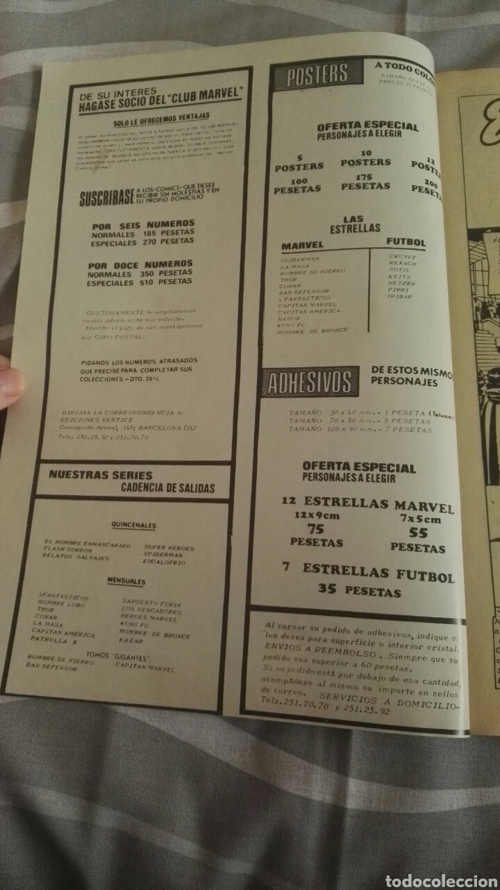 Cómics: Cómics Spiderman, V.3 N°22, El Artero Lagarto, Ed. Vertice, 1974 - Foto 2 - 110874766
