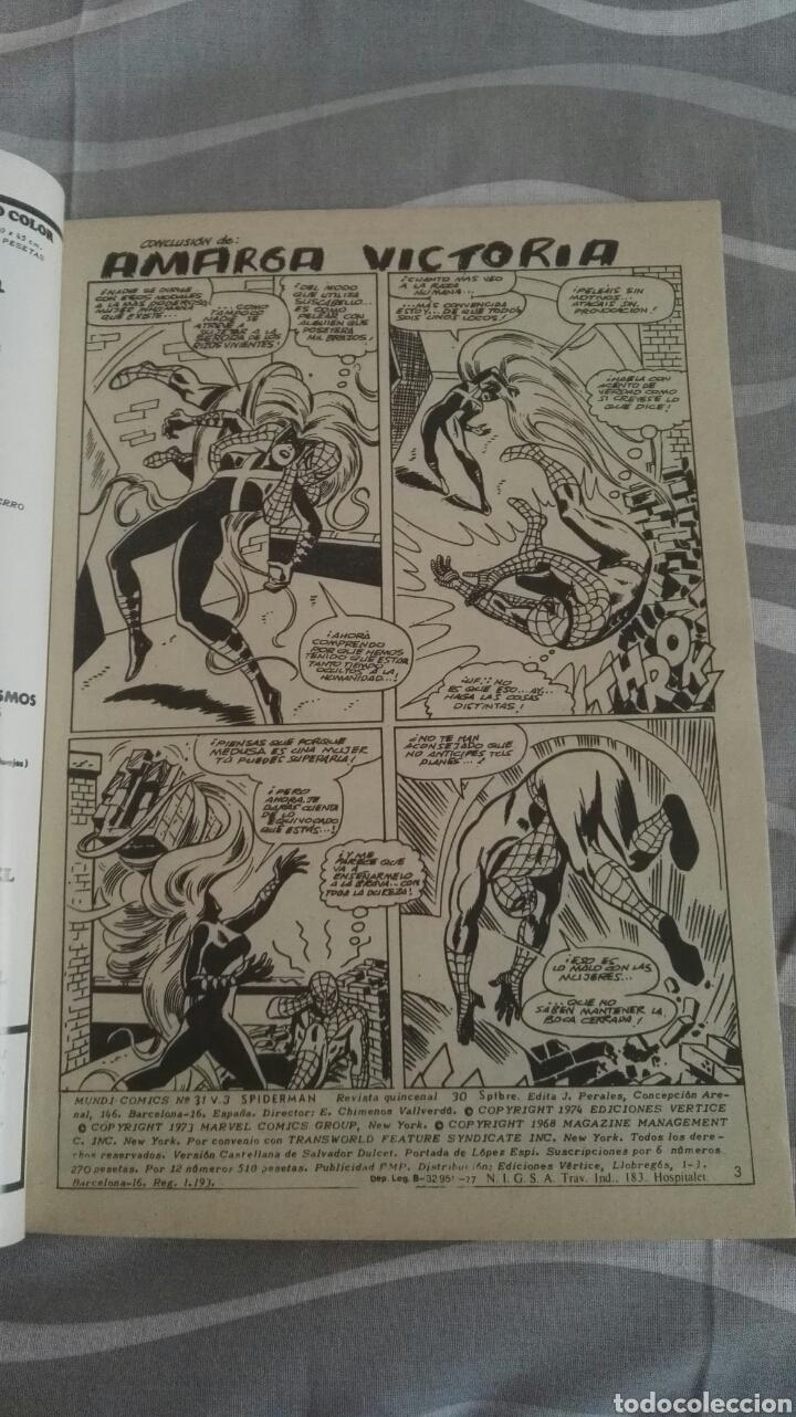 Cómics: Cómics Spiderman, V.3 N°31, La Presa Del Buitre, Ed. Vertice, 1974 - Foto 3 - 110878278