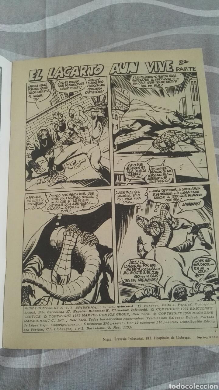 Cómics: Cómics Spiderman, V.3 N°36, El Fin De Una Vida, Ed. Vertice, 1974 - Foto 3 - 110880259