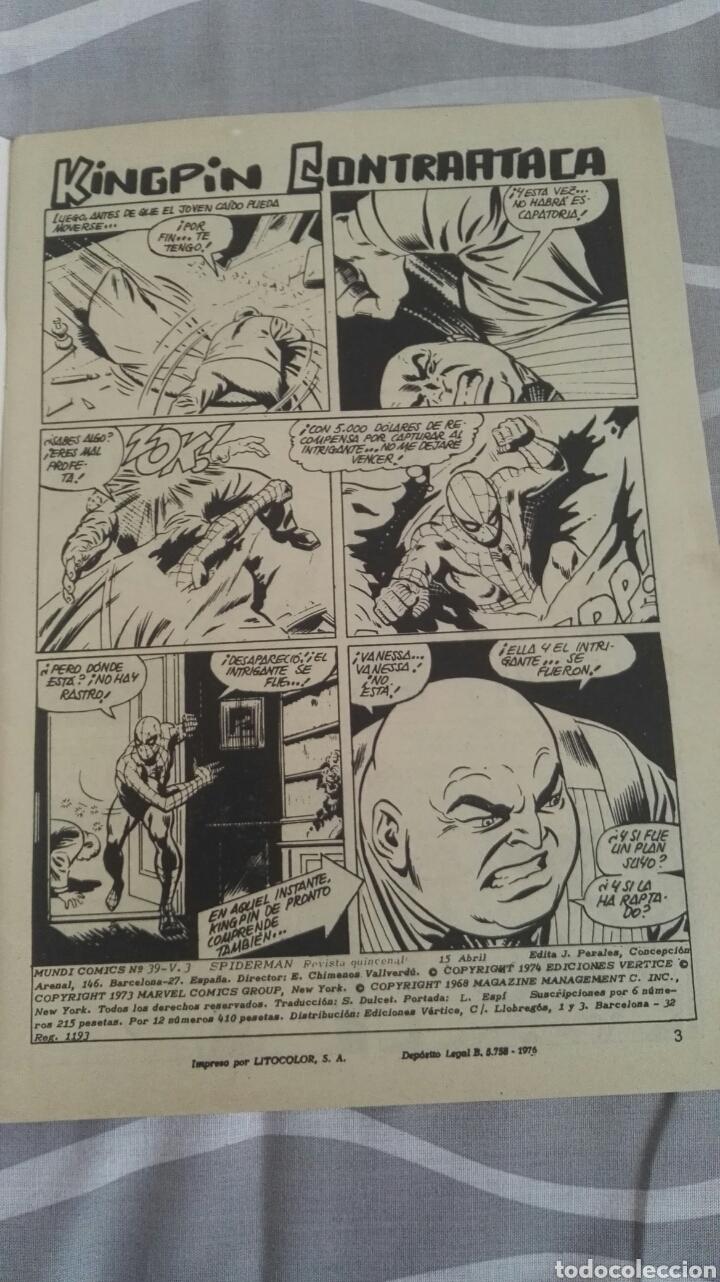 Cómics: Cómics Spiderman, V.3 N°39, El Secreto Del Acechante, Ed. Vertice, 1974 - Foto 3 - 110880459