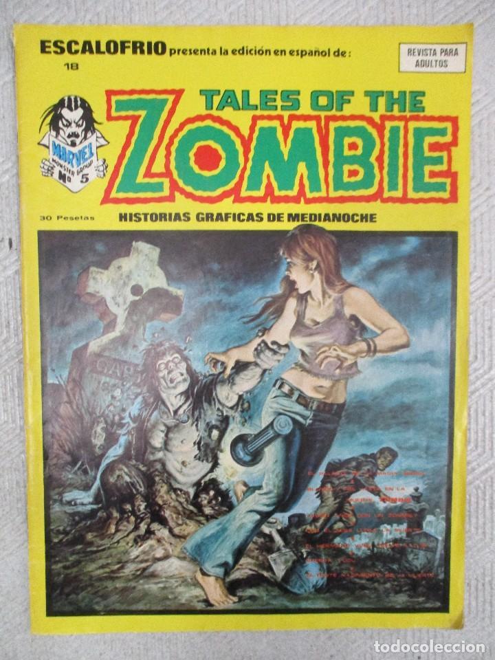 ESCALOFRIO Nº 18 TALES OF THE ZOMBIE Nº 5 VERTICE (Tebeos y Comics - Vértice - Terror)