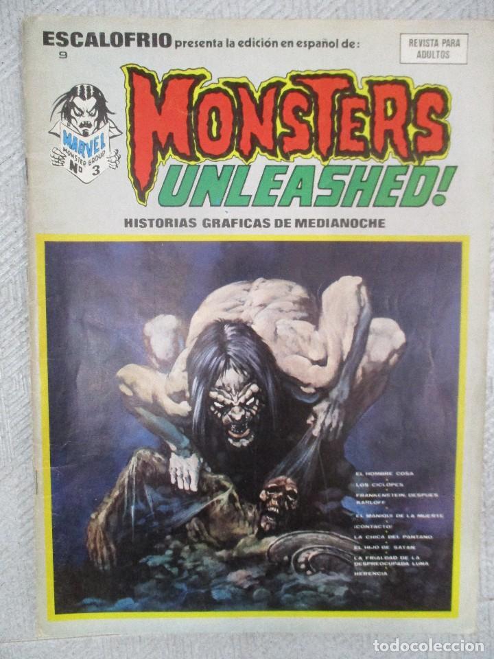 ESCALOFRIO. Nº 9. MONSTERS UNLEASHED EDICIONES VERTICE (Tebeos y Comics - Vértice - Terror)