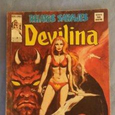 Cómics: RELATOS SALVAJES DEVILINA EL DOMINIO DE SATAN Nº 15 V.1. AÑO 1974 VERTICE MUNDI COMICS. Lote 112344075