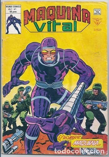 MÁQUINA VITAL, 1: EL HOMBRE MÁQUINA (JACK KIRBY) - VÉRTICE, 07/1980 (Tebeos y Comics - Vértice - Grapa)