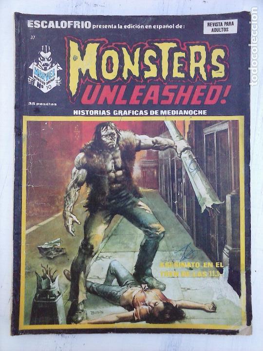 ESCALOFRIO Nº 37 MONSTERS UNLEASHED 10 (Tebeos y Comics - Vértice - Terror)