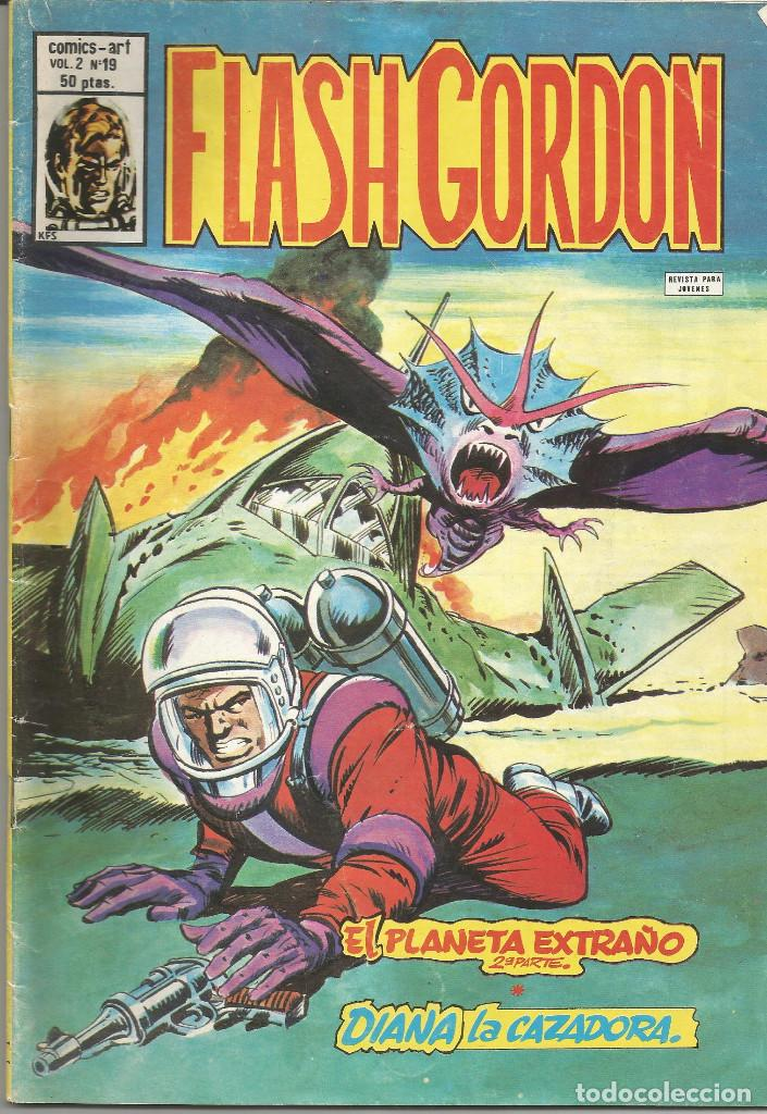 FLASH GORDON V.2 EL PLANETA EXTRAÑO (2ª PARTE) / DIANA LA CAZADORA Nº 19 VERTICE (Tebeos y Comics - Vértice - Flash Gordon)