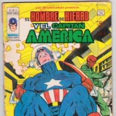 Cómics: LOS INSUPERABLES VERTICE VOL 1 Nº 13 (CAPITAN AMERICA Y HOMBRE DE HIERRO). Lote 115349623