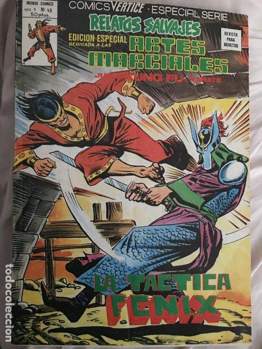 SHANG CHI. EDICIONES VERTICE VOL. 1 Nº 48. RELATOS SALVAJES. LA TACTICA FENIX. (Tebeos y Comics - Vértice - Relatos Salvajes)