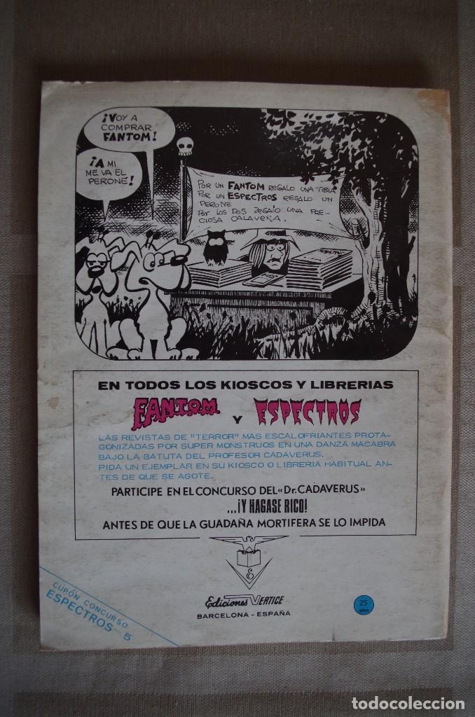 Cómics: ESPECTROS Nº 5 - VERTICE - AÑO 1972 - Foto 2 - 116615191