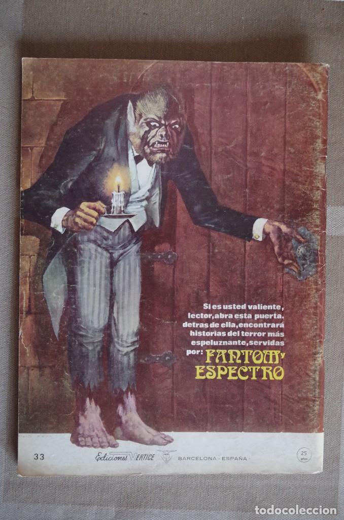 Cómics: ESPECTROS Nº 33 - VERTICE - 1973 - Foto 2 - 116619831