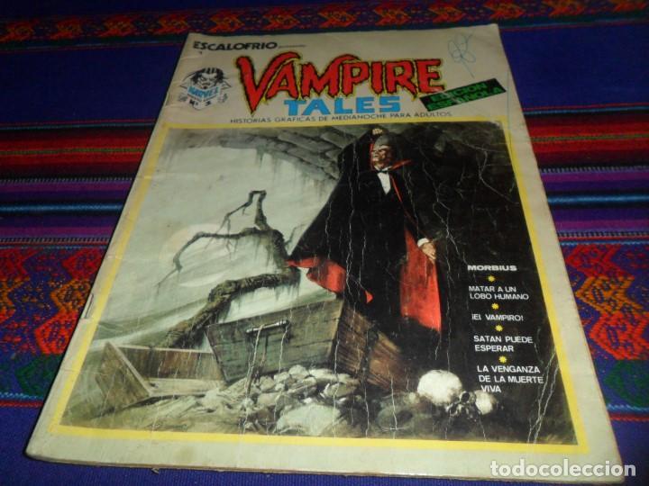 VÉRTICE VOL. 1 ESCALOFRÍO Nº 1 VAMPIRE TALES Nº 1. 1973. 30 PTS. MORBIUS. (Tebeos y Comics - Vértice - Terror)