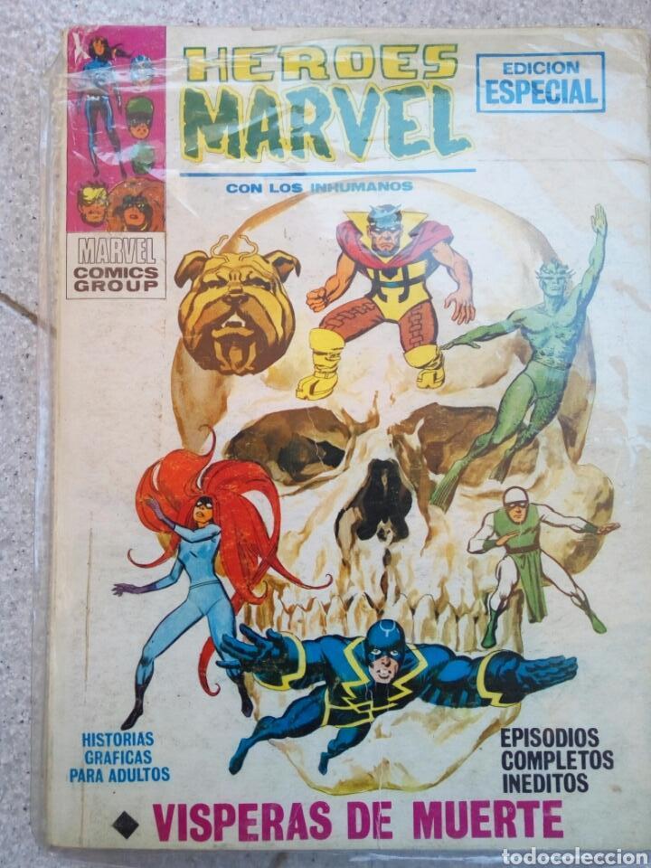 HEROES MARVEL N°6 CON LOS INHUMANOS VÍSPERAS DE MUERTE, VERTICE (Tebeos y Comics - Vértice - Super Héroes)