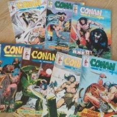 Cómics: CONAN EL BARBARO - MUNDI COMICS - LOTE 7 EJEMPLARES - 1980. Lote 118291455