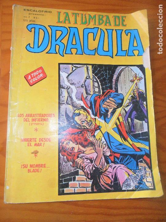 LA TUMBA DE DRACULA, ESCALOFRIO PRESENTA V.2 Nº 4 - VERTICE (Tebeos y Comics - Vértice - Terror)