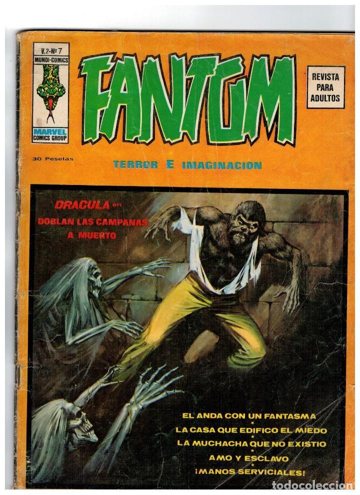 FANTOM V.2 Nº 7 VÉRTICE 1974 (Tebeos y Comics - Vértice - Terror)