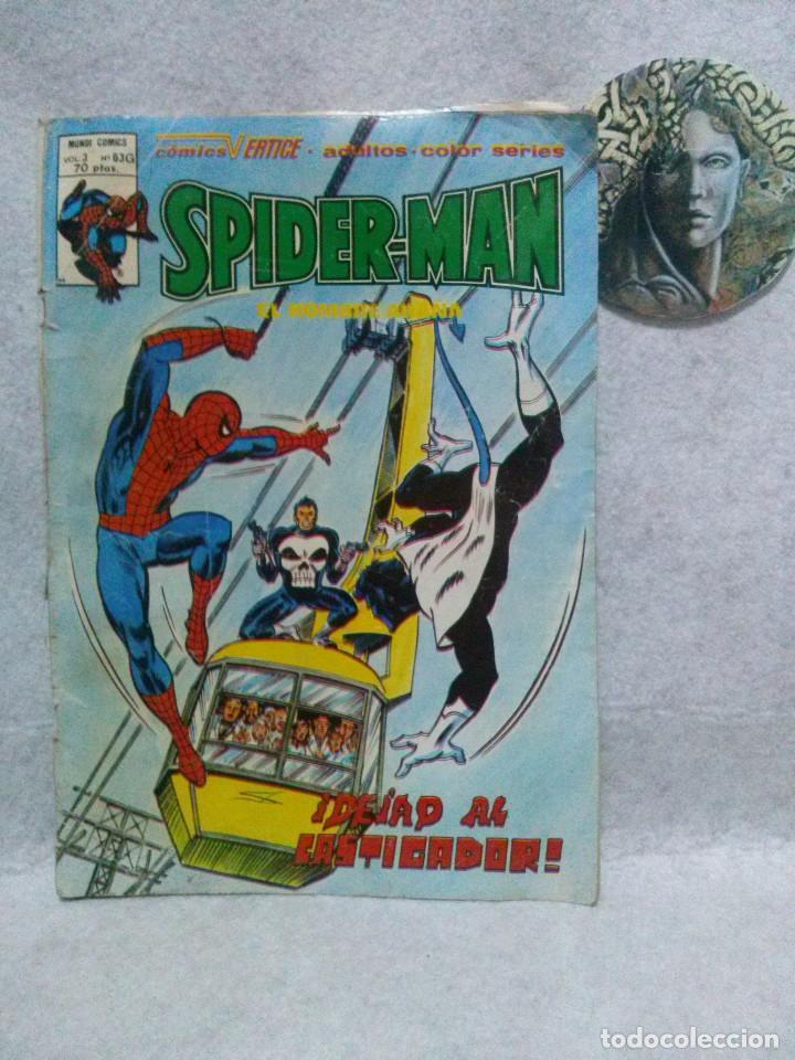 SPIDERMAN EL HOMBRE ARAÑA Nº 63G VOL 3 ¡DEJAD AL CASTIGADOR! - MUNDI COMICS / COMICS VERTICE 1979 (Tebeos y Comics - Vértice - V.3)