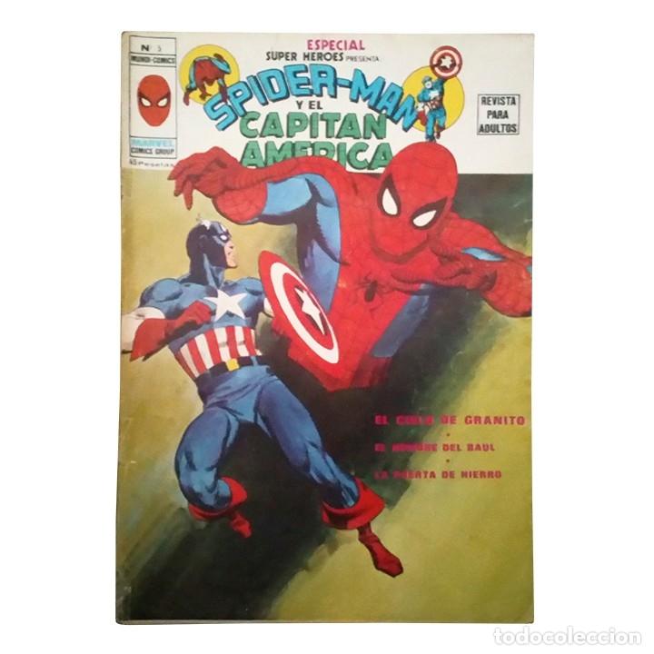 ESPECIAL SUPER HEROES PRESENTA Nº 5 / SPIDERMAN Y EL CAPITAN AMERICA / MARVEL / VERTICE 1979 (Tebeos y Comics - Vértice - Super Héroes)