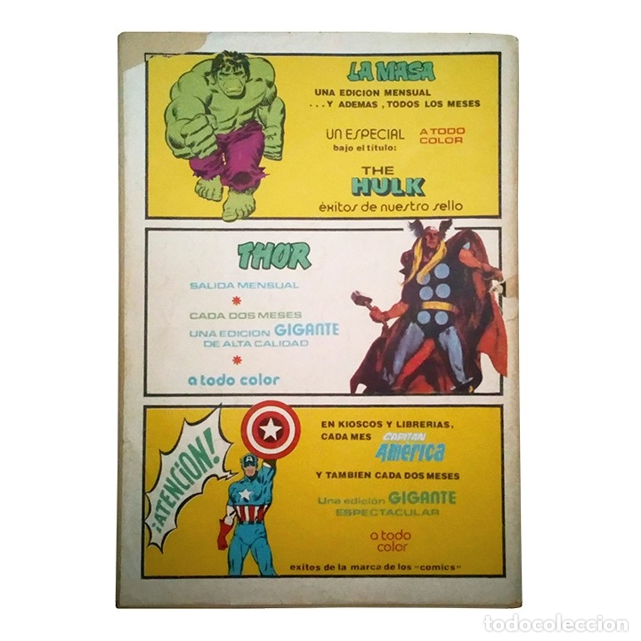 Cómics: Especial Super Heroes Presenta Nº 5 / Spiderman y El Capitan America / Marvel / Vertice 1979 - Foto 2 - 120937455