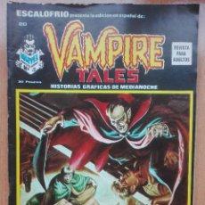 Cómics: ESCALOFRIO N°20.VAMPIRE TALES.1974.MUY DIFÍCIL!!. Lote 121740419