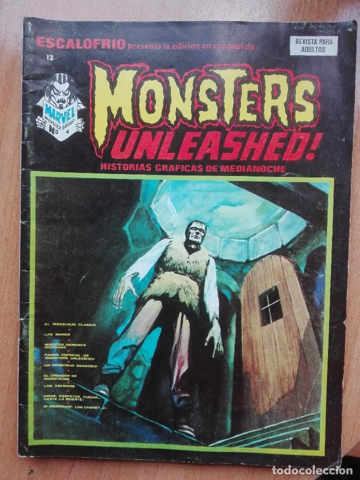 ESCALOFRIO N°12.MONSTERS UNLEASHED!1974.MUY DIFÍCIL!! (Tebeos y Comics - Vértice - Terror)