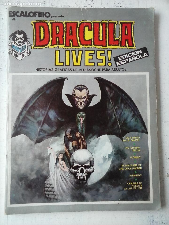 DRACULA LIVES! - Nº 1 - ESCALOFRIO Nº 4 - MUY BUENA CONSERVACIÓN (Tebeos y Comics - Vértice - Otros)
