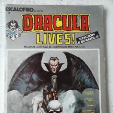 Comics: DRACULA LIVES! - Nº 1 - ESCALOFRIO Nº 4 - MUY BUENA CONSERVACIÓN. Lote 121813475