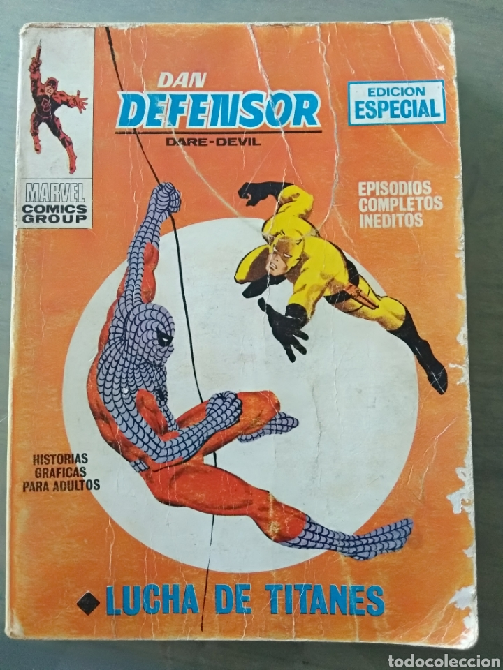 DAN DEFENSOR. DARE-DEVIL. LUCHA DE TITANES. SPIDERMAN. VERTICE Nº 7 (Tebeos y Comics - Vértice - Dan Defensor)