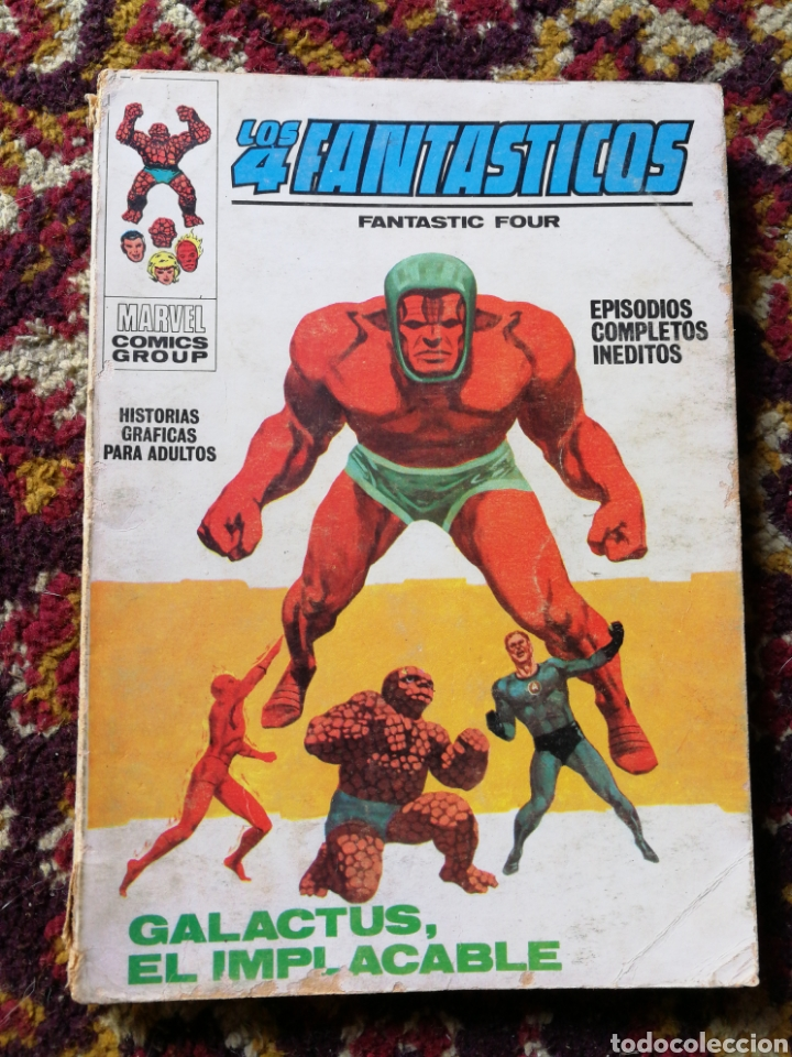 LOS 4 FANTASTICOS- GALACTUS, EL IMPLACABLE, COMIC GROUP-MARVEL, VERTICE- N°38. (Tebeos y Comics - Vértice - 4 Fantásticos)