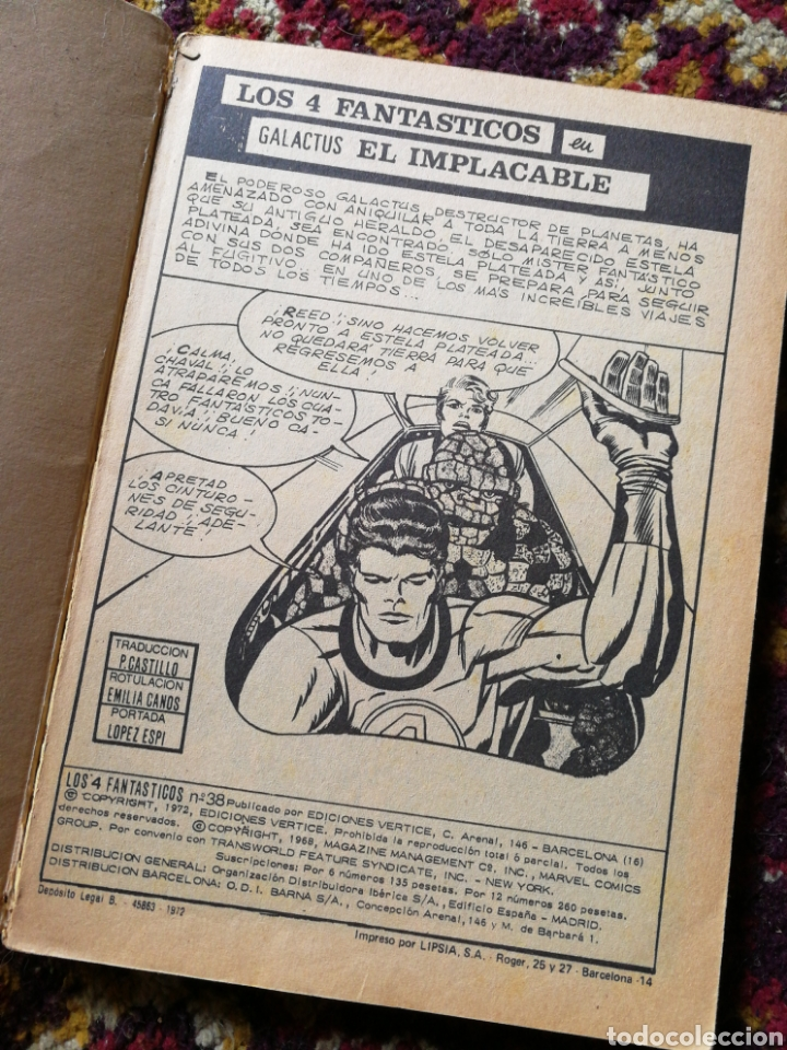 Cómics: LOS 4 FANTASTICOS- GALACTUS, EL IMPLACABLE, COMIC GROUP-MARVEL, VERTICE- N°38. - Foto 2 - 122944964