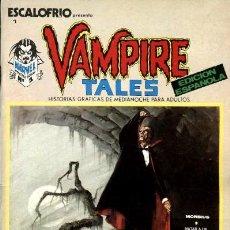 Cómics: VERTICE, NÚMEROS 1: ESCALOFRÍO PRESENTA: VAMPIRE TALES NÚMERO 1 (1973), CON CLAREMONT, BERNET Y.... Lote 123232147