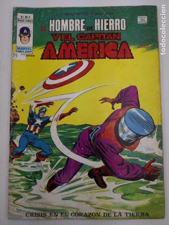 EL HOMBRE DE HIERRO Y EL CAPITAN AMERICA V1 Nº 9 VERTICE (Tebeos y Comics - Vértice - Hombre de Hierro)