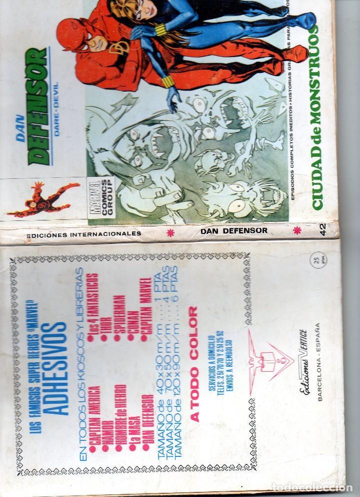 Cómics: COMIC VERTICE DAN DEFENSOR VOL1 Nº 42 ( MUY BUEN ESTADO ) - Foto 3 - 124419807