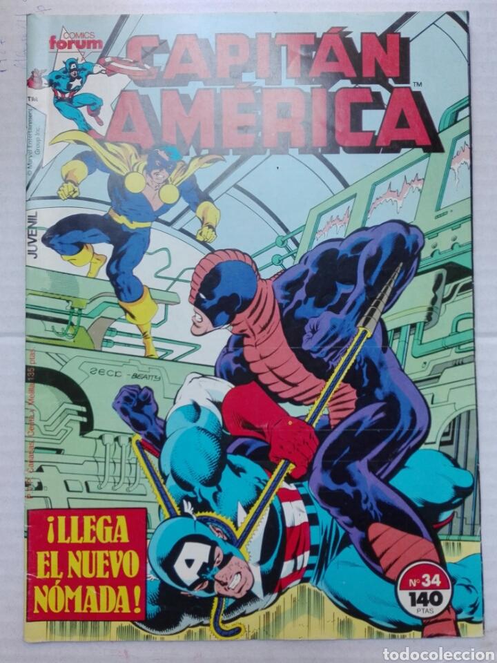 CAPITÁN AMÉRICA NÚMERO 34 MARVEL GROUP (Tebeos y Comics - Vértice - Capitán América)