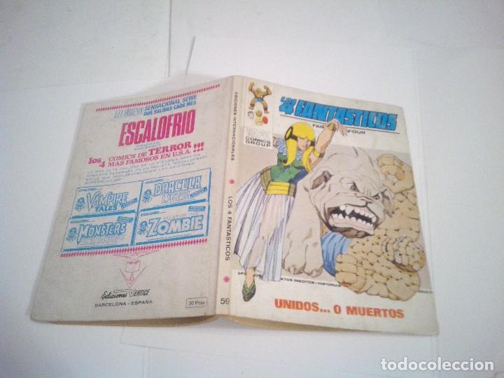 Cómics: LOS 4 FANTASTICOS - VERTICE - VOLUMEN 1 - NUMERO 59 - BUEN ESTADO - CJ 75 - GORBAUD - Foto 5 - 125436679