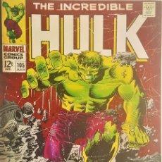 Cómics: CUADRO EN ACRILICO - DE HULK MARVEL COMICS - PRIMERA EDICIÓN 1970 APROX - 90.CM X 60.CM X 3.CM GROSO. Lote 126037755