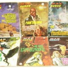 Cómics: LOTE 6 COMICS MAX AUDAZ Nº 7-8-9-16-17-18, VERTICE, GRAPA. Lote 126593223