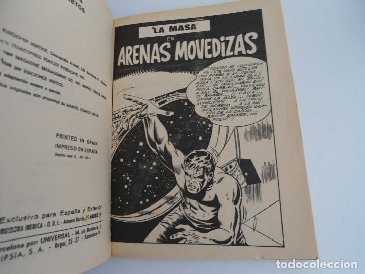Cómics: LA MASA nº 6 - ARENAS MOVEDIZAS - EDICIONES INTERNACIONALES VERTICE 1971 - COMPLETO - Foto 6 - 127621959