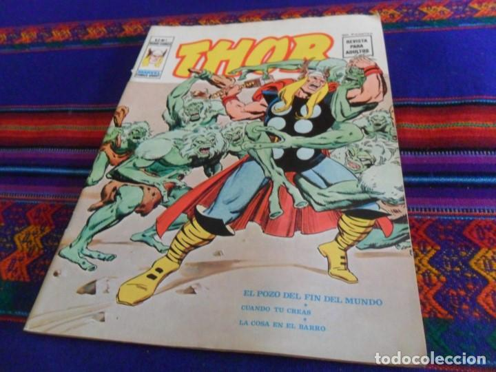 MUY BUEN ESTADO, VÉRTICE VOL. 2 THOR Nº 1. 1974. 30 PTAS. EL POZO DEL FIN DEL MUNDO. DIFÍCIL. (Tebeos y Comics - Vértice - Thor)