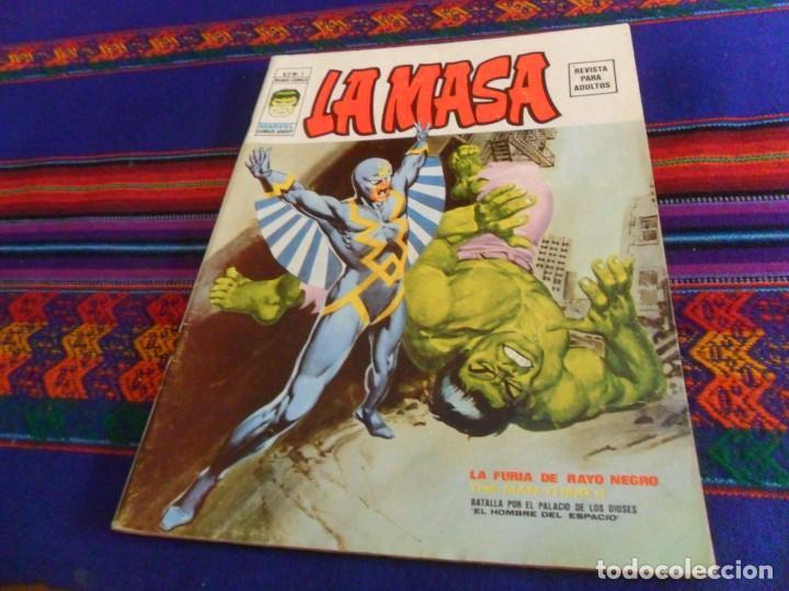 MUY BUEN ESTADO, VÉRTICE VOL. 2 LA MASA Nº 1. 30 PTS. 1974. LA FURIA DE RAYO NEGRO. DIFÍCIL. (Tebeos y Comics - Vértice - La Masa)