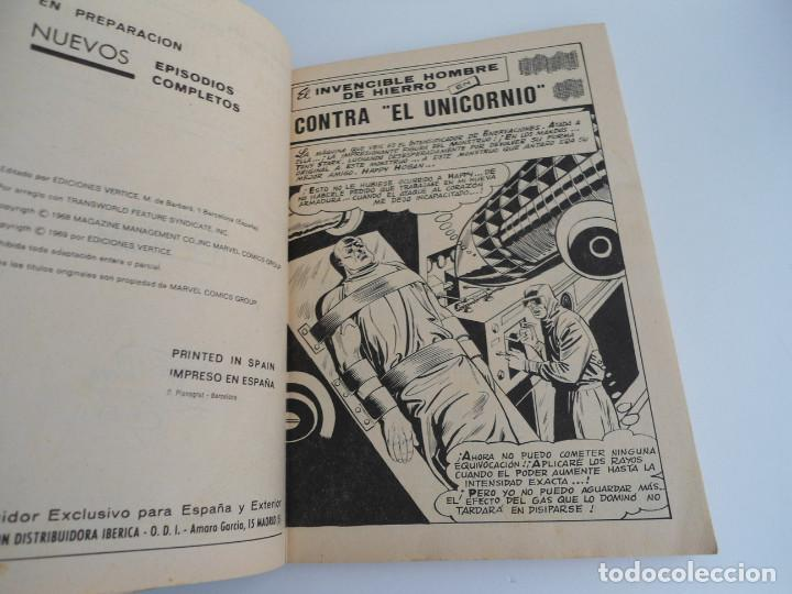 Cómics: EL HOMBRE DE HIERRO IRON MAN nº 2 - CONTRA EL UNICORNIO -ED. INTERNACIONALES VERTICE 1969 - COMPLETO - Foto 6 - 127646679