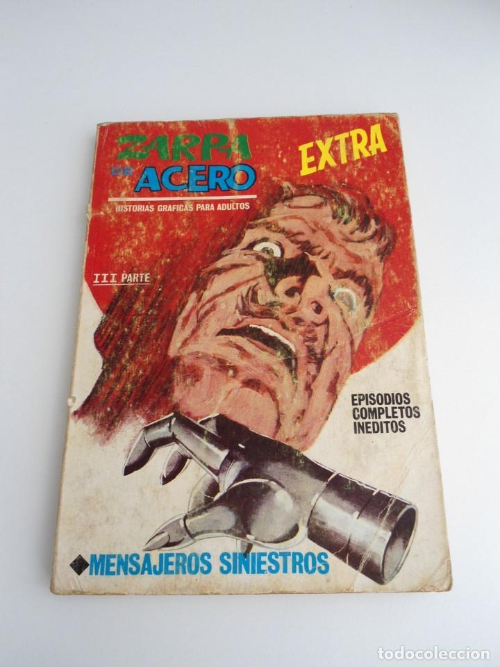 ZARPA DE ACERO EXTRA Nº 25 - MENSAJES SINIESTROS - EDICIONES INTERNACIONALES VERTICE 1969 - COMPLETO (Tebeos y Comics - Vértice - Otros)